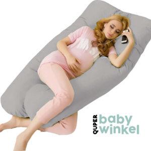 zwangerschapskussen xl grijs