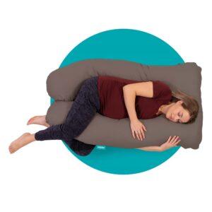 mjuka zwangerschapskussen 140 cm grijs