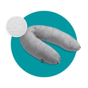 mjuka voedingskussen microparels nicky velours grijs